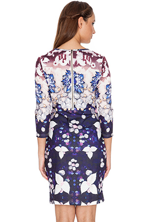 Wholesale Jewel and Floral Print Dress