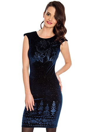 Wholesale Glitter burnout sleeveless velour dress