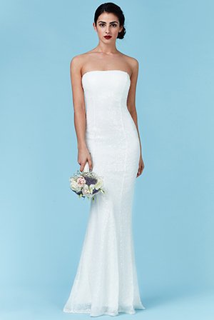 Wholesale Bandeau Sequin Maxi Wedding Dress