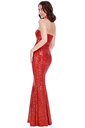 Wholesale Bandeau Sequin Maxi Dress