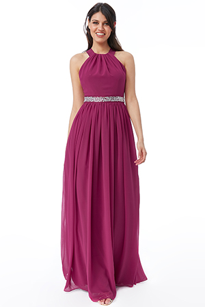Wholesale-Halter-Neck-Chiffon-Maxi-Dress-DR446