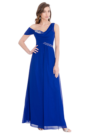 Wholesale-Asymmetric-Prom-Maxi-Dress-with-a-Scarf