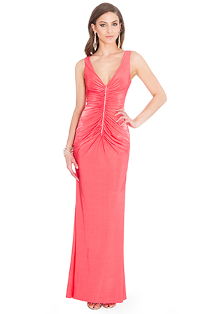 Wholesale Gathered Crystals Maxi Dress