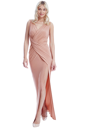 Wholesale-Front-Split-Maxi-Dress