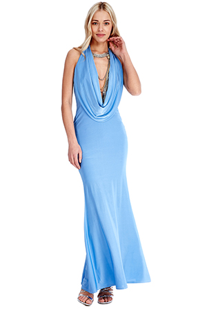 Wholesale-Cowl-Neck-Maxi-Dress