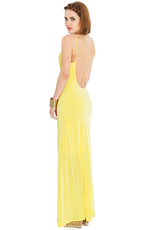 Wholesale Open Back Maxi Dress
