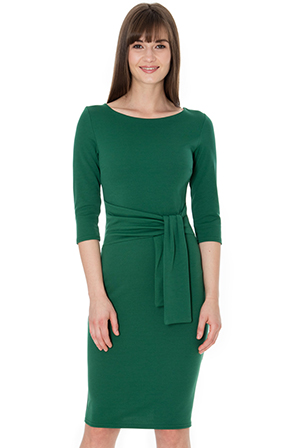 Wholesale-Pencil-Dress-with-a-Tie-Detail-DR583C