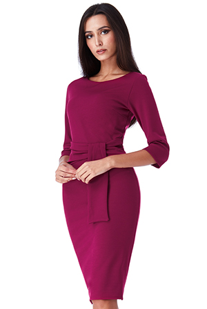Wholesale-Pencil-Dress-with-a-Tie-Detail