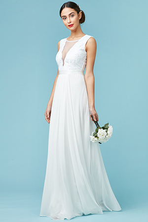 Wholesale V Neckline Chiffon Maxi Wedding Dress