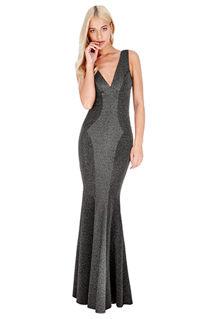 Wholesale Fishtail Lurex Maxi Dress