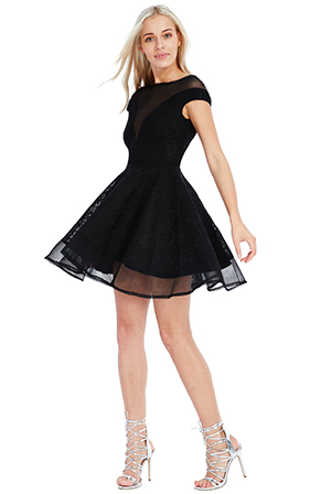 Wholesale-Structured-Lace-Skater-Dress