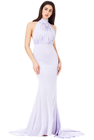 Wholesale-Halter-Neck-Fishtail-Maxi-Dress_3