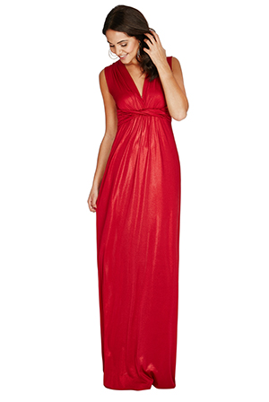 Wholesale Metallic Front Detail Maxi Dress