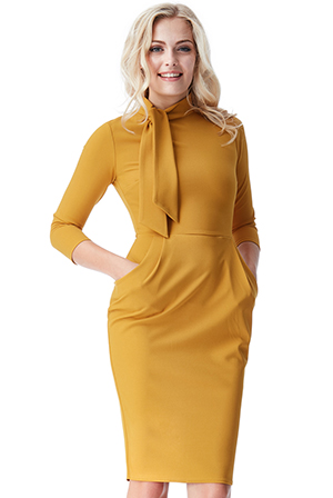 Wholesale Midi Dress with Pockets