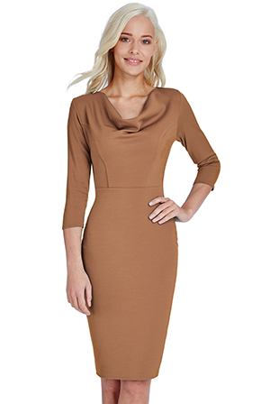 Wholesale Cowl Neck Midi Dress
