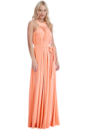 Wholesale Halter Neck Maxi Dress with a Tie