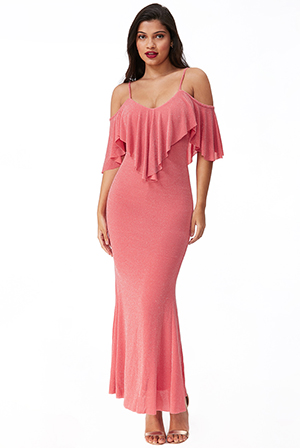 Wholesale-Ruffle-Bardot-Glitter-Maxi-Dress-with-Straps-DR842PT