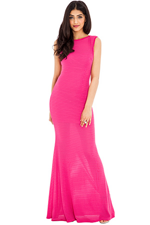 Wholesale Cut Out Back Ribbed Maxi Dress