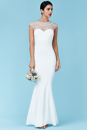 Wholesale-Embellished-Fishtail-Maxi-Wedding-Dress