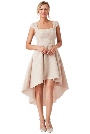 Wholesale-Square-Neckline-Asymmetric-Midi-Dress