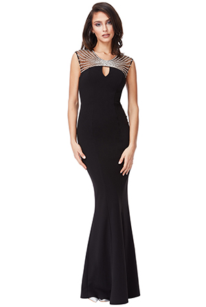 Wholesale-Embellished-Neckline-Maxi-Dress_6