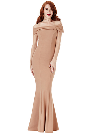 Wholesale-Bardot-Fishtail-Maxi-Dress-with-Bow-Detail