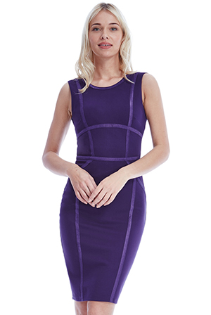 Wholesale-Bodycon-Midi-Dress-with-Line-Detail