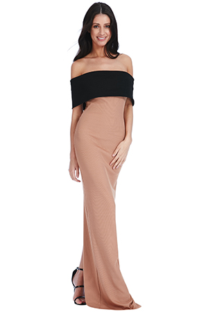 Wholesale Multi Way Bardot Neckline Maxi Dress