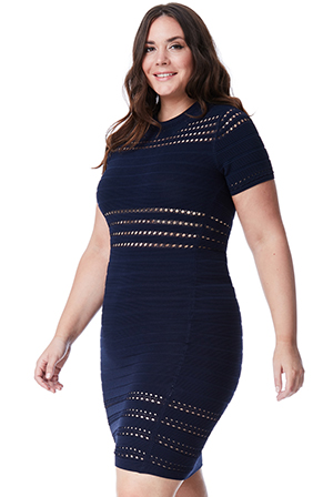 Wholesale Plus Size Cut Out Bodycon Dress