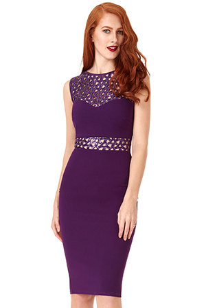 Wholesale Cut Out Sequin Midi Dress