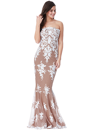 Wholesale-Strapless-Sequin-Embroidered-Maxi-Dress