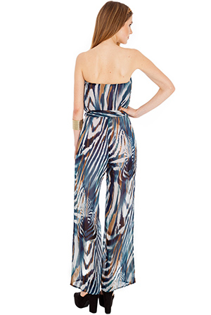 Wholesale Bandeau wide leg jumpsuit