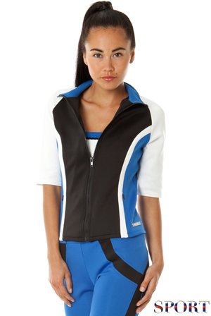 Wholesale Zip up Colour Block Sports Jacket
