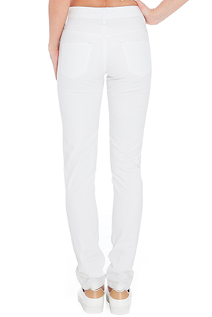 Wholesale White High-rise Skinny Jeans