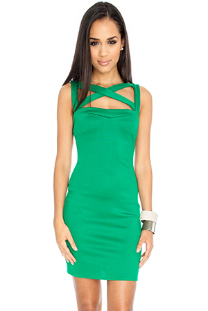 Wholesale Cross Over Strappy Bodycon Dress by Josie Gibson for Goddiva