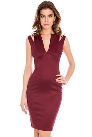 Wholesale Cutaway Bodycon Dress