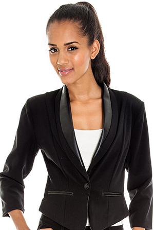 Wholesale PU Trim Blazer