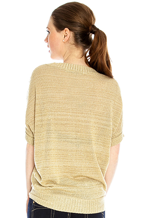 Wholesale Lurex Batwing Jumper