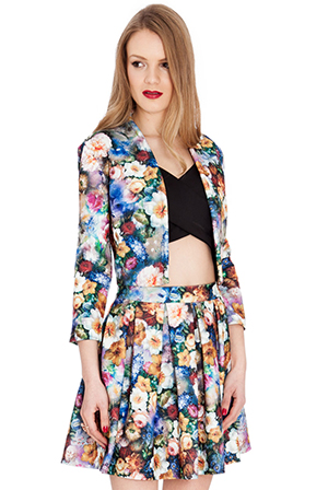 Floral-Print-Stretch-Jacquard-Cropped-Jacket