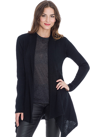 Wholesale Ribbed-Knit Cardigan