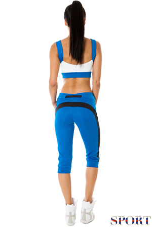 Wholesale Colour Block Sports Capri Pants