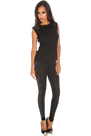Cluster-embellished-leggings