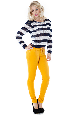 Wholesale Mustard Skinny Fit Jeans