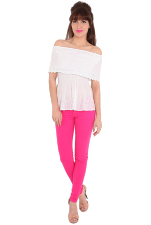 Wholesale Cerise Colour Pop Jeans
