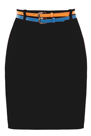 Bodycon-Belted-Mini-Skirt