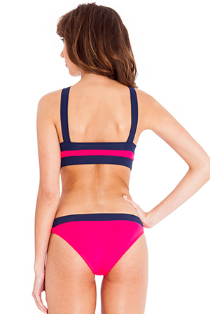 Wholesale Cross Neck and Waist Contrast Monokini