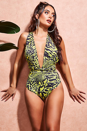 Wholesale-Multi-Way-Swimsuit-with-Plunging-V-Neck-SW35N