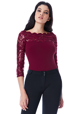 Wholesale-Bodysuit-with-Long-Sequined-Lace-Sleeves