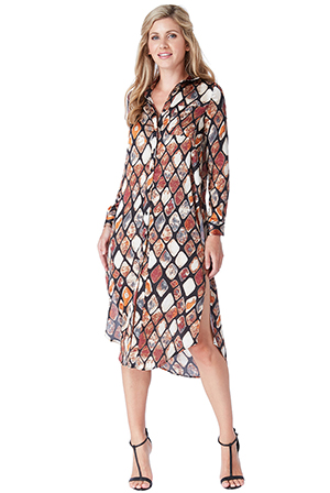 Wholesale-Printed-Shirt-Dress