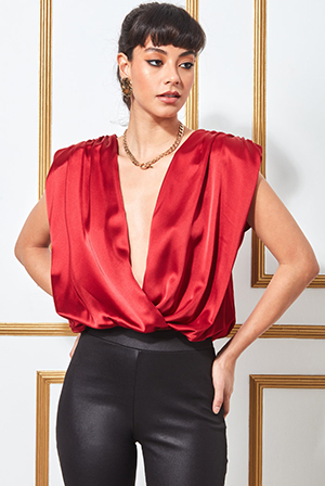 Satin-Wrap-Style-Top-with-Shoulder-Pads